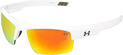 Under Armour Igniter Sunglasses, Shiny White / Gray Orange Multiflection Lens, 60 mm