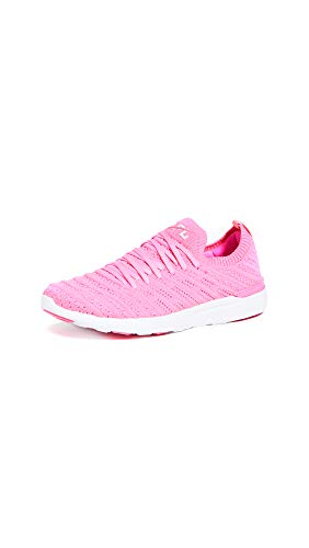APL: Athletic Propulsion Labs Women's Techloom Wave Sneakers, Fusion Pink/White, 8.5 Medium US