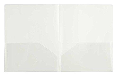 Filexec 50116-31213 2-Pocket Ordner, Visitenkarten-gestanzt, durchscheinend durchsichtig, 12 Stück