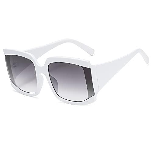AMFG Gafas de sol de las señoras del cuadrado del marco del marco retro de las señoras de las señoras de las señoras de la calle del macho Espejo de conducción al aire libre (Color : B)