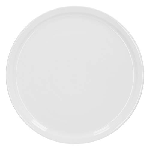 Van Well Wellco-Design Pizzateller Ø 31 cm, weiß, Pizzaplatte, Porzellan, schlicht