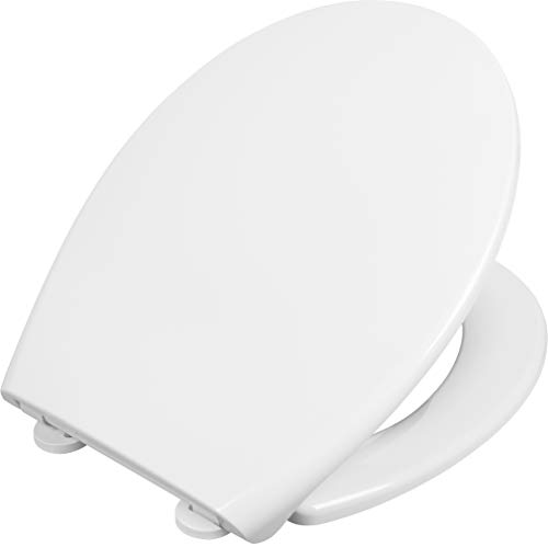 Cornat WC-bril Pylea - klassieke witte look - onderhoudsvriendelijke duroplast - quick up & clean functie - softclosemechanisme - comfortabele montage van boven/toiletbril/wc-deksel / KSPYSC00
