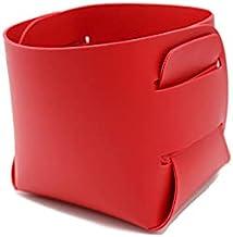 Home Organizer, Leather Storage Basket, Modern Home Storage, Make Up Container, Detachable, Foldable Storage Basket, Pract...