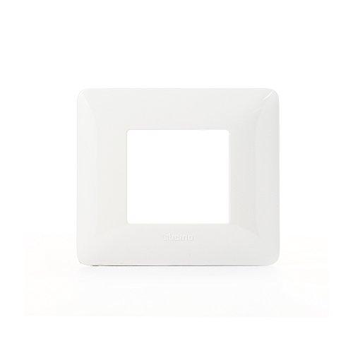 Bticino AM4802BBN Placca 2 Moduli, Bianco