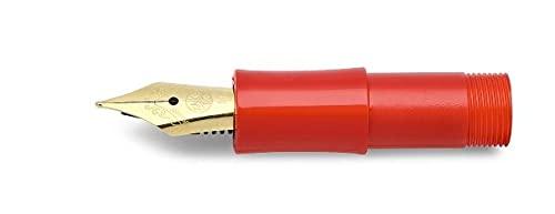 Kaweco, Classic Front Part Red with Spare Nib Gold BB 10001176 - Muelle de repuesto extra ancho, color rojo con muelle de acero dorado