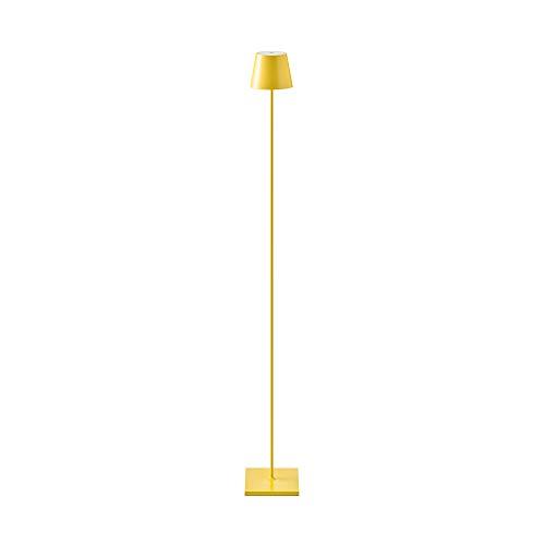 SIGOR Nuindie - Dimmbare LED Akku-Stehlampe Indoor & Outdoor, wiederaufladbar, 24h Leuchtdauer, gelb