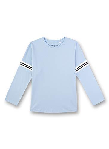 Sanetta Mädchen Langarmshirt Schlafanzugoberteil, Blau (blau 5601), (Herstellergröße:152)