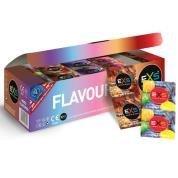 EXS - Préservatifs aromatisés - 6 goûts différents - Boîte de 144