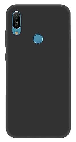 ICOVERI Funda Compatible con Huawei Y6 2019. Funda Protectora Ultrafina Mate. Carcasa Tacto Suave Antideslizante Antigolpes Anticaidas Compatible con Huawei Y6 2019. TPU. Color Negro