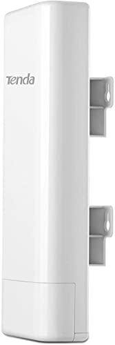 Tenda O3 Outdoor Access Point Esterno Wi-Fi 2.4GHz 11N 150Mbps, 2*10/100Mbps Ethernet Port, PoE Passivo, -30℃ ~ 60℃, IP64 Waterproof Enclosure, Protezione da Fulmini 6000V