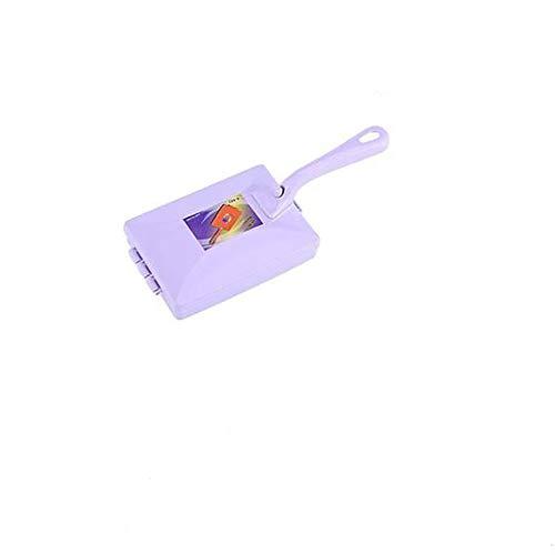 Luoshan Handdoppel Roller-Art Pinsel Teppich-Reinigungsbürste Kehrmaschine Crumb entfernen Haarbürsten, zufällige Farbe Lieferung