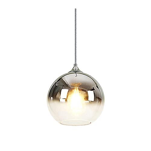 SDFDSSR Moderno Globo Colgante Gradiente Droplight Lámpara Colgante De Cristal De Una Sola Cabeza Lámpara Colgante Ajustable E27 Adecuado para Cocina Isla Restaurante Bar Mostrador 20 Cm