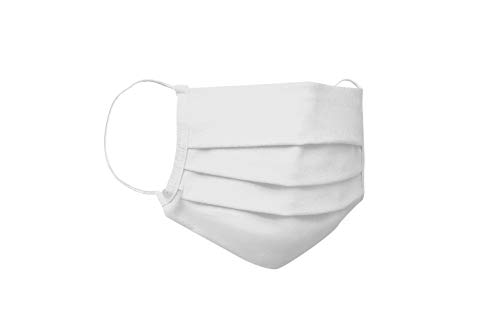 Cotton Candy Organic Cotton 2-Layer Face Mask reuseable (Pack of 4) (White, Large)