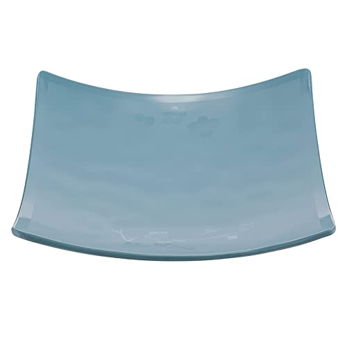 Melamine Plates Square Sushi Sashimi Plates Salad Dishes Dessert Appetizer Serving Platter Candy Snack Tray for Home Restaurant BJY969 (Color : Skyblue, Size : 22.7X22.7X1.8CM)