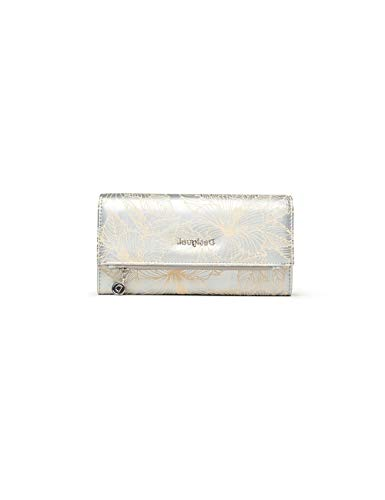 Desigual Mone_Akela Rocio, Travel Accessory- Bi-Fold Wallet para Mujer, Plateado, 3x10x20 cm (B x H x T)