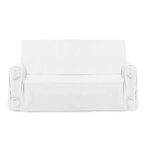 Soleil d 'Ocre 112551Classic Panama funda de sofá algodón, blanco, 100X200 X60 cm
