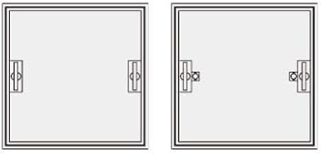 【ナカ工業】床点検口 〜標準モデル〜 NHEⅡAPO アルミ目地ーPタイル仕上用ー落とし込み取手(鍵無し/鍵付き) (600×600)