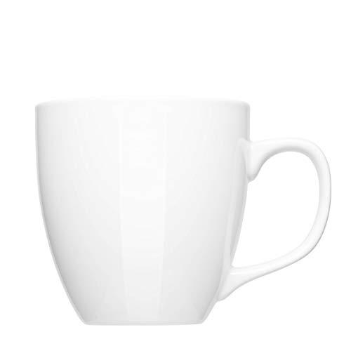 Mahlwerck XXL Jumbotasse, Große Porzellan-Kaffeetasse mit hoch-glänzender Oberfläche, in weiß, 450ml