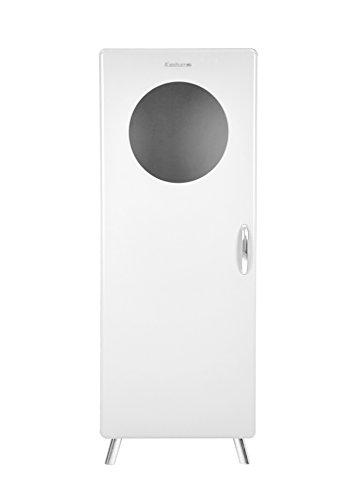 Tenzo Cobra Designer Vitrine 1 Porte hublot, Panneaux de Particules/MDF, Blanc, 56x43x149 cm
