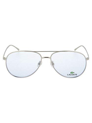 Luxury Fashion   Lacoste Heren L2505PC028 Zilver Metaal Zonnebrillen   Seizoen Permanent