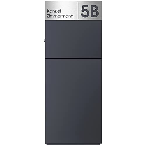 Stand-Briefkasten anthrazit freistehend (RAL 7016) MOCAVI SBox 311 Postkasten groß xxl rostfrei hochwertig mit Hausnummer und Name V4A-Edelstahl graviert rostfrei hochwertig