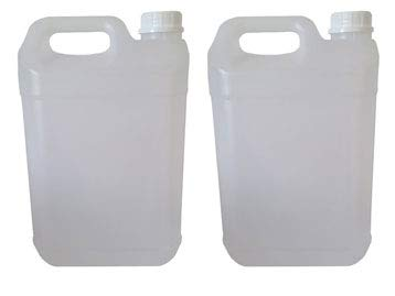2 Bidons de 5 lt - Bidon en Plastique de 5 litres PEHD - idéal pour Tous Les liquides, Eau, Huile, Sauce, réservoir pour climatisation/Camping/Camping-Car (1)