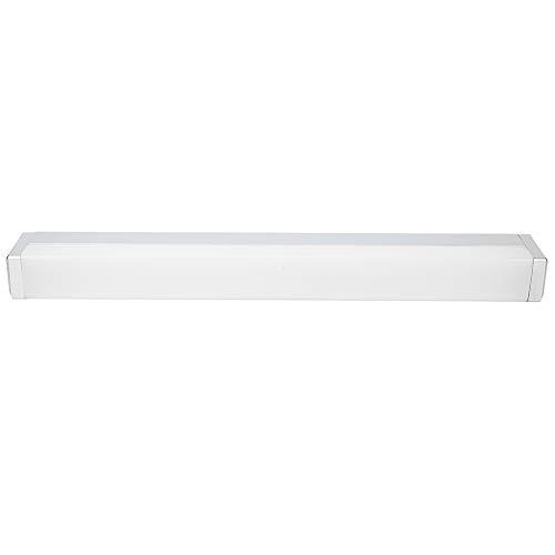 Lámpara frontal de espejo, luz blanca, iluminación de pared, 8 W, armario con espejo, aluminio brillante + PC fabricado