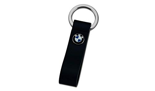 BMW SCHLÜSSELANHÄNGER LEDERSCHLAUFE Edelstahlring