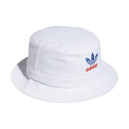 Adidas Originals - Cappello a secchiello lavato, taglia unica, colore: Bianco