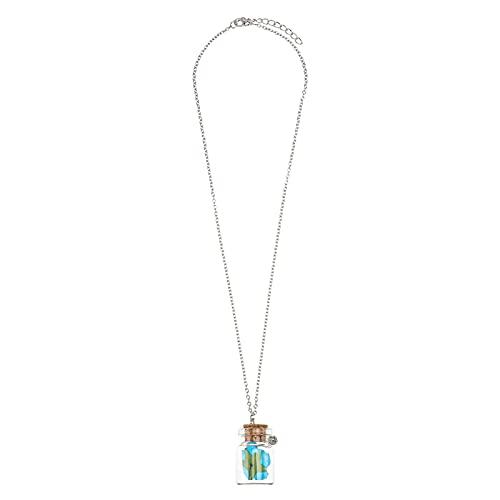 Happyyami Collar de Rosa Luminoso Mini Botella de Vidrio Collares para Mujeres Niñas