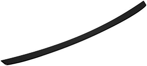 Avisa Protection de seuil arrière carboné compatible avec Mercedes Classe-E W213 Sedan 2016- Carboné noir