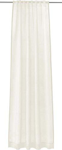 Joop! Living Vorhang mit verdecktem Schlaufenband Glare Weiss Einfarbig Uni
