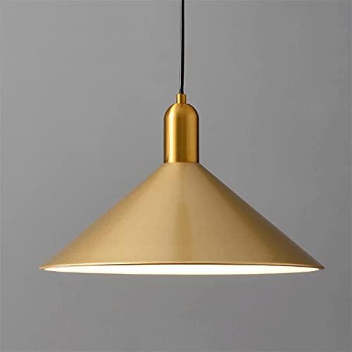 Luz colgante de hierro, lámpara de platillo de volante de metal, luces colgantes en la entrada, accesorios de iluminación E27, Lámparas de suspensión de la isla de la isla de la isla Nordic Minimalist