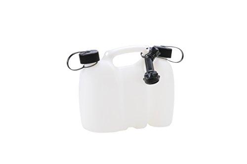 hünersdorff PROFI Doppelkanister / Kombikanister für Kraftstoff und Öl mit Kindersicherung und Auslaufrohr, 3 + 1,5 Liter, UN-Zulassung, Made in Germany