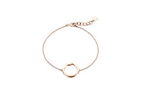 Pulsera Denmark de Obaku – de la colección de joyas Enso de plata de ley 925 – con cristales de Swarovski – materiales elegantes y de alta calidad con diseño escandinavo (oro rosa)