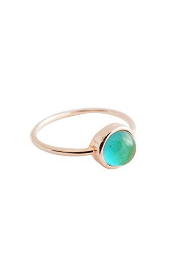HONEYCAT Mood Ring in Gold, Rose Gold, or Silver | Minimalist, Delicate Jewelry (Rose Gold, 9)