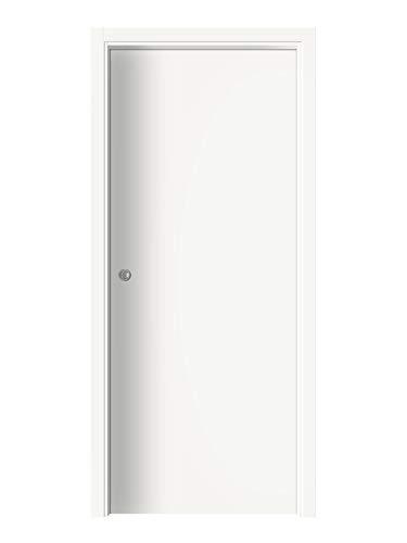 Porta da interni scorrevole reversibile - Alba (70x200, Bianco)