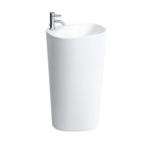 Laufen Palomba Freistehender Waschtisch mit integrierter Säule, 1 Hahnloch, ohne Überlauf, 520x435x900, Farbe: Weiß mit LCC