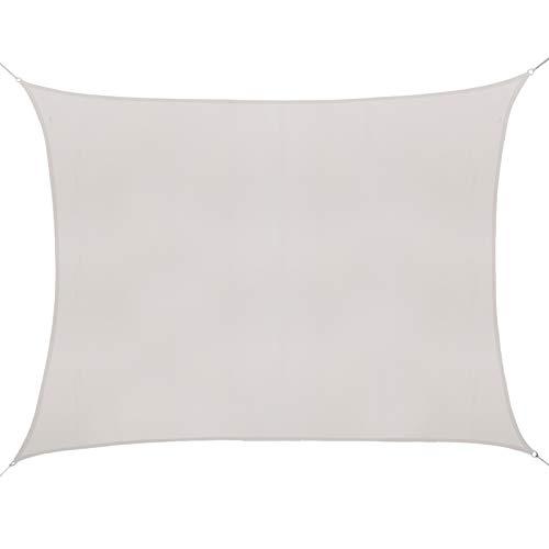 Outsunny Voile d'ombrage rectangulaire 6L x 4l m Polyester imperméabilisé Haute densité 160 g/m² crème