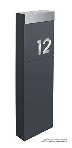 Frabox® Design Standbriefkasten NAMUR anthrazitgrau RAL 7016 / Edelstahl – Made in Germany! - 4