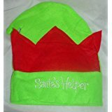 TOYLAND Confezione da 6 Bambini 'Santa's Helper' Red And Green Christmas Elf Hat - Christmas Fancy Dress ...