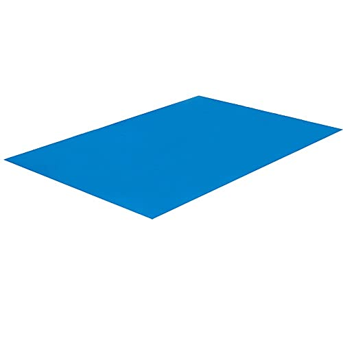 Paño rectangular para tapete de piscina, paño de suelo doblado de lona azul para tapete de protección de piscina sobre el suelo