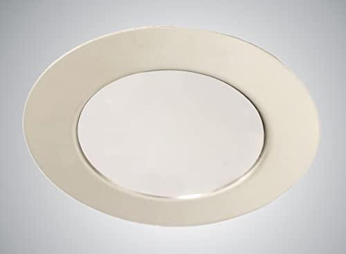 Trango 1 set 12 volts AC/DC Projecteur à LED pour meubles encastré, plafonnier TGG4E-018 en chrome pour remplacer les lampes de mobilier G4 Halogenb conventionnelles, lampe pour hotte de cuisine