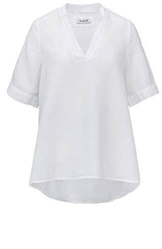 Backstage Clothing Bluse aus Leinen, Weiß Gr. M, weiß