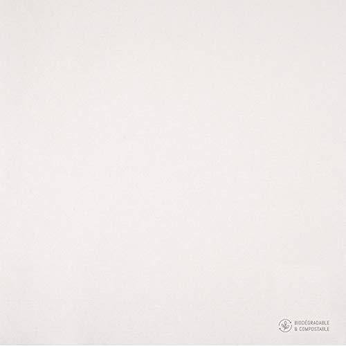 Servilletas de 40 x 40 cm, Color Blanco, 10 Paquetes de 40