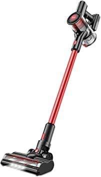レッド Small トコモコ コードレス掃除機 超軽量 自走式パワーヘッド サイクロン式 強弱切替 壁掛け充電式 自立式 PSE