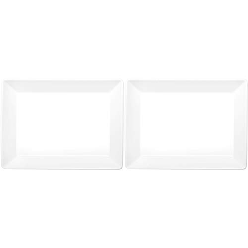 ASA Selection 52141/017 250° Poletto Servierplatte, Teller rechteckig, flach, 27 x 17 x 2,5 cm, weiß (2 Stück)