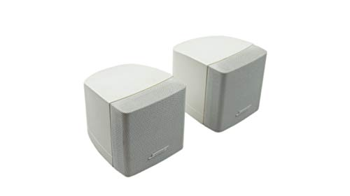 2X Bose Acoustimass Series III Single-cubes Altavoz Color blanco