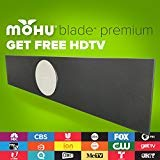 Mohu Blade Premium Amplified Indoor/Outdoor TV Antenna, 24' Wide, 60-Mile Range, UHF/VHF Multi-directional, 16 ft. Cable, Tabletop/Wall Mount, USB Power Adapter, Mounting Hardware, 4K-Ready, MH-110098