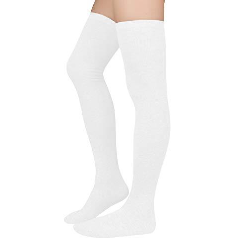 Durio Kniestrümpfe Damen Overknee Strümpfe Extra Lang Overknee Socken College Über-knie Strümpfe...